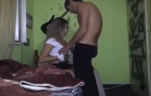 Hot college girl and her bf making love